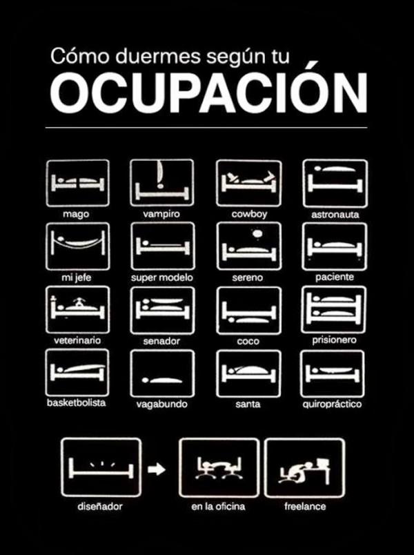 Cómo duermes según tu ocupación