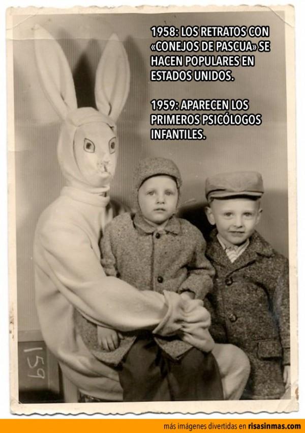 Los retratos con conejos de Pascua