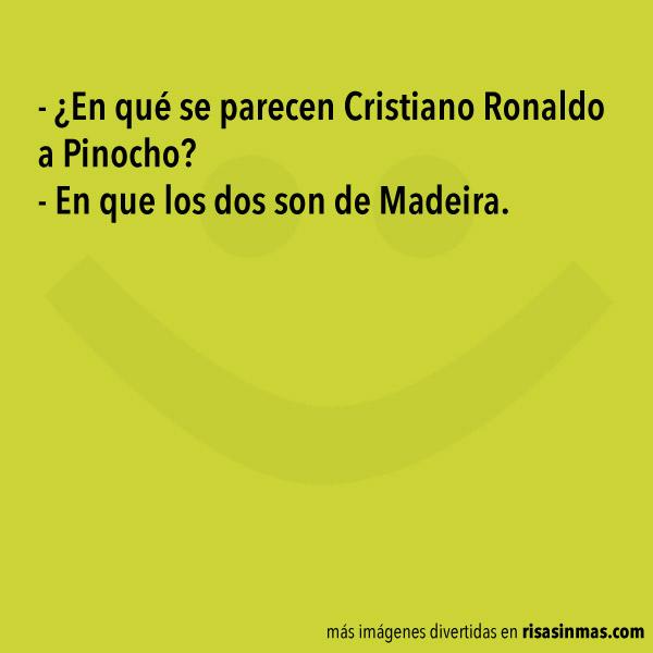 Cristiano Ronaldo y Pinocho