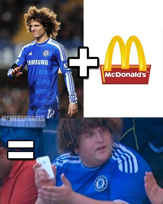 David Luiz + McDonalds