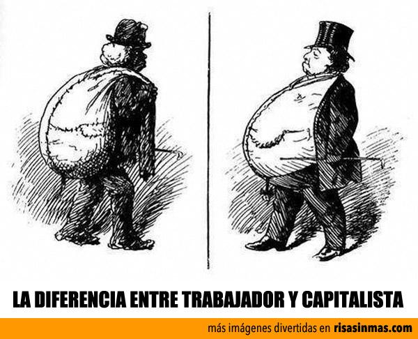 La diferencia entre trabajador y capitalista