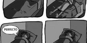 El peligro de dormir con una pierna fuera