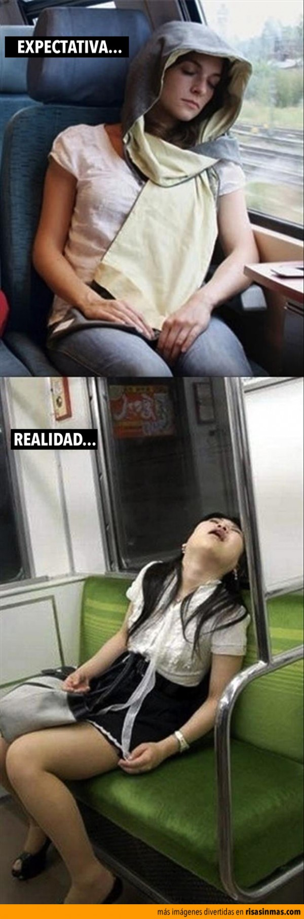 Expecativa vs Realidad: durmiendo