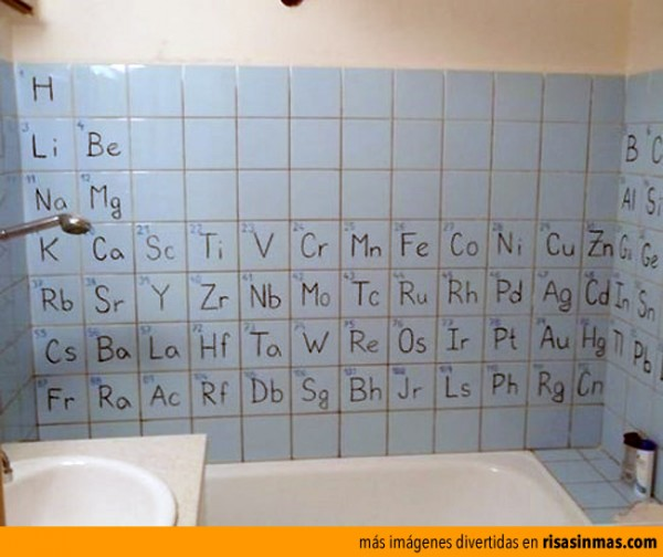 El baño de un químico