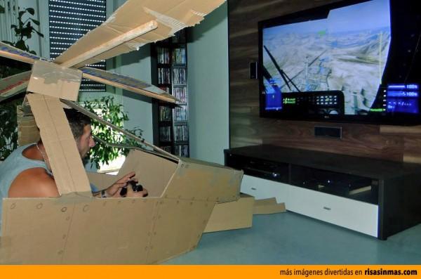 Fabricación casera de un simulador de helicóptero