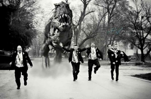 Probablemente la foto de bodas más original