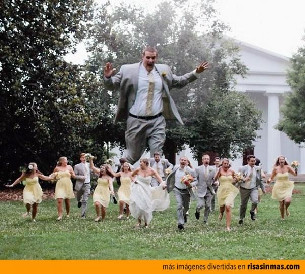 La foto de bodas más original