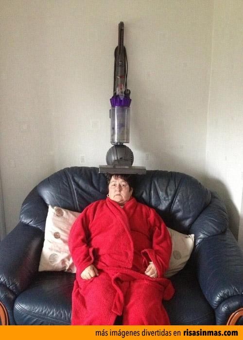 Fotos curiosas: La mujer de la aspiradora