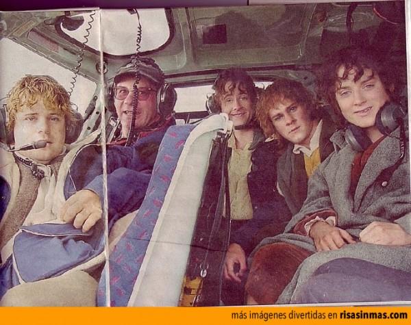Los Hobbits entrando en Mordor