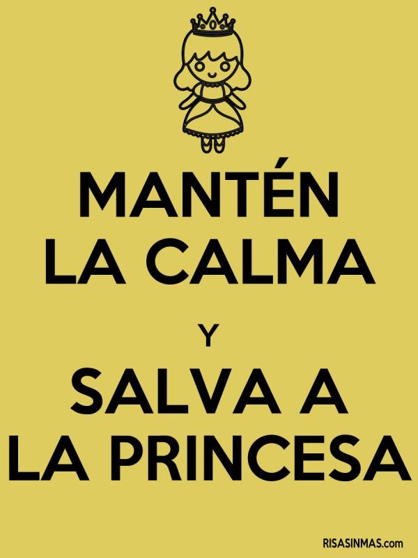Mantén la calma y salva a la princesa