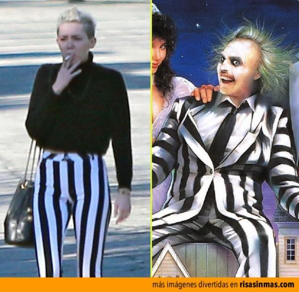 Parecidos razonables: Miley Cyrus y Bitelchus