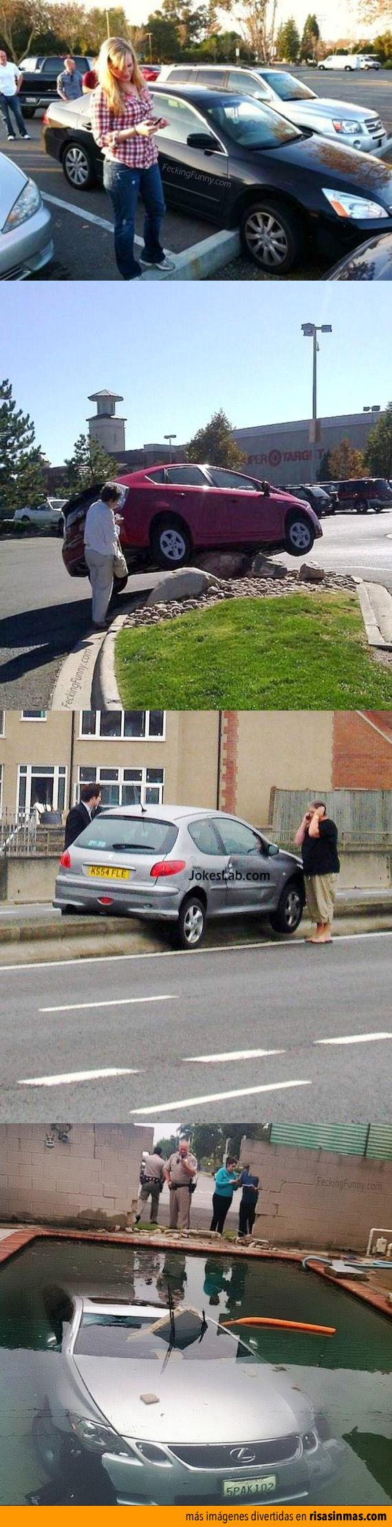 Mujeres aparcando