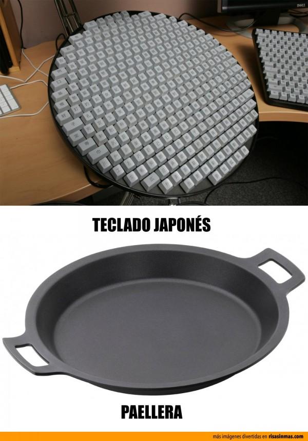 Parecidos razonables: Teclado japonés - Paellera