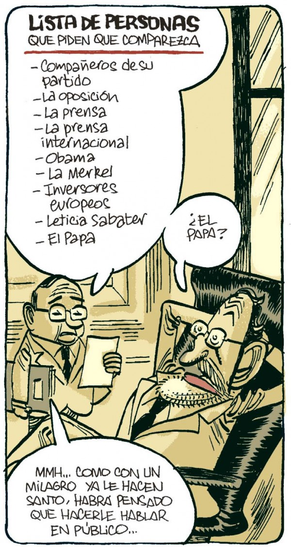 Lista de personas que piden la comparecencia de Rajoy