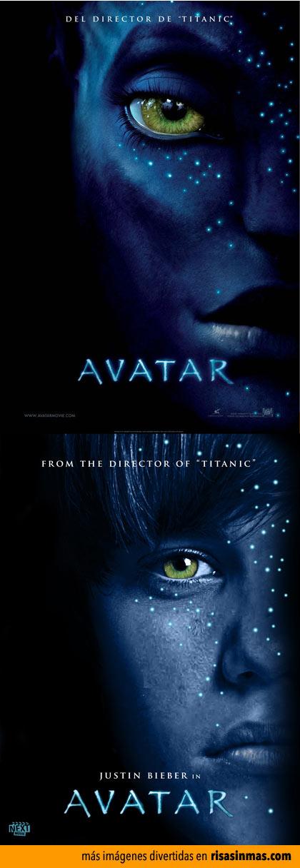 Pósters de cine famosos con Justin Bieber: Avatar