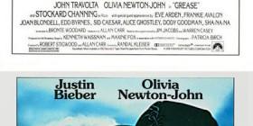 Pósters de cine famosos con Justin Bieber: Grease