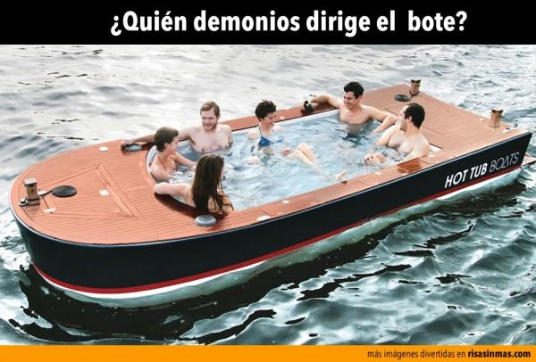 ¿Quién dirige el bote?