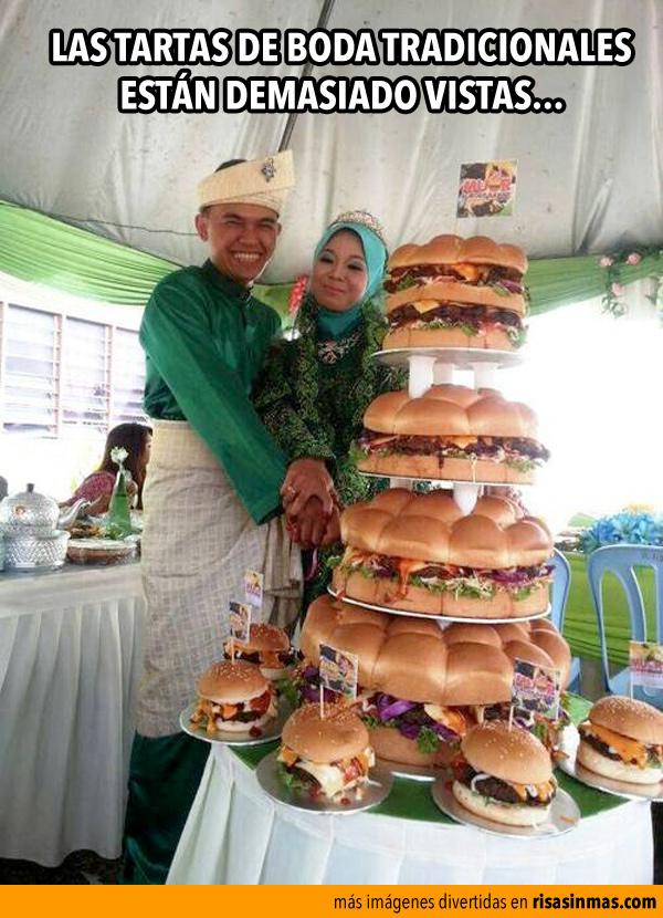 Las tartas de boda tradicionales están muy vistas