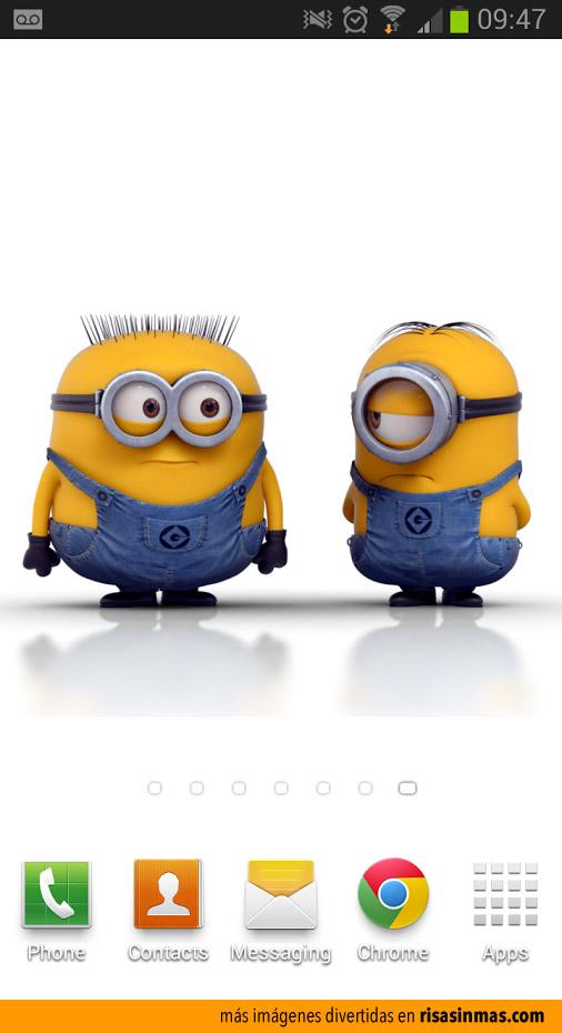 Tengo 2 Minions en mi móvil