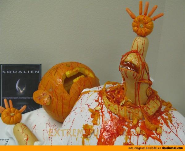 Alien 8 versión Halloween