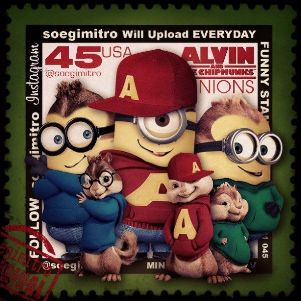 Alvin y las ardillas versión Minion