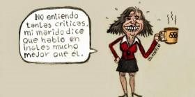 Ana Botella orgullosa de su inglés