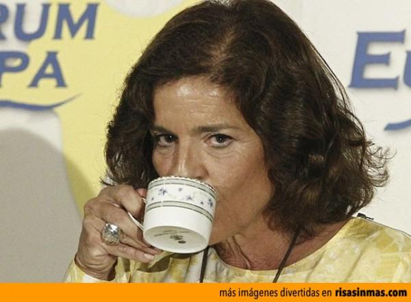 Ana Botella y su Relaxing cup of café con leche