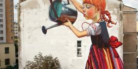 Arte callejero en una calle de Polonia