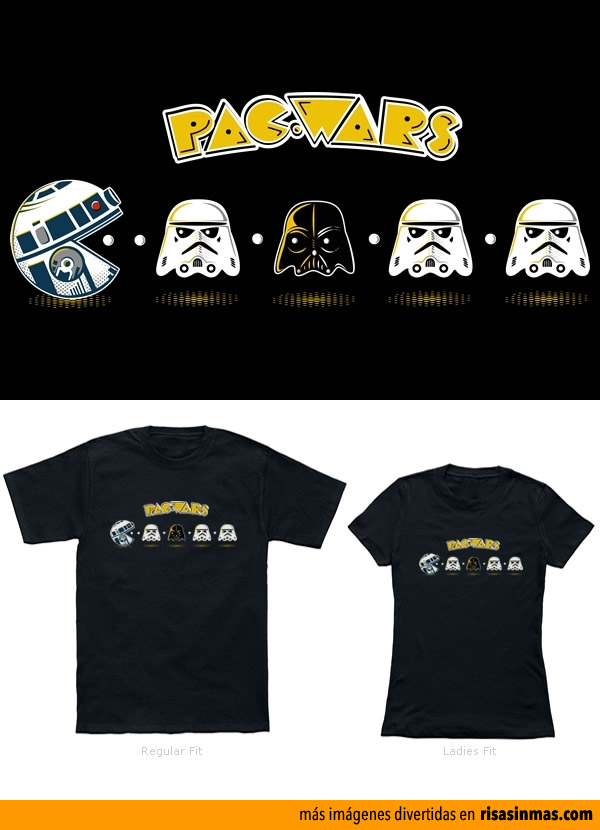 Camisetas originales: Pac Wars