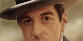 Caricatura de Al Pacino en El Padrino