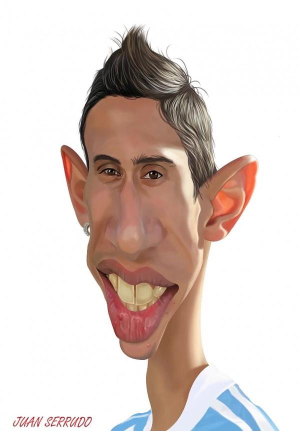 Caricatura de Ángel Di María