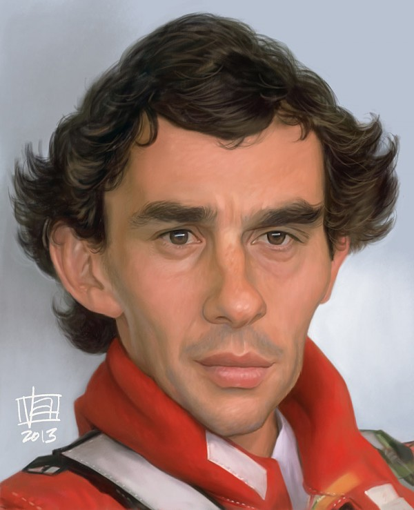 Caricatura de Ayrton Senna