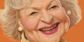 Caricatura de Betty White