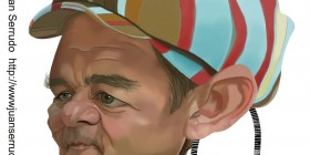 Caricatura de Bill Murray en Los cazafantasmas