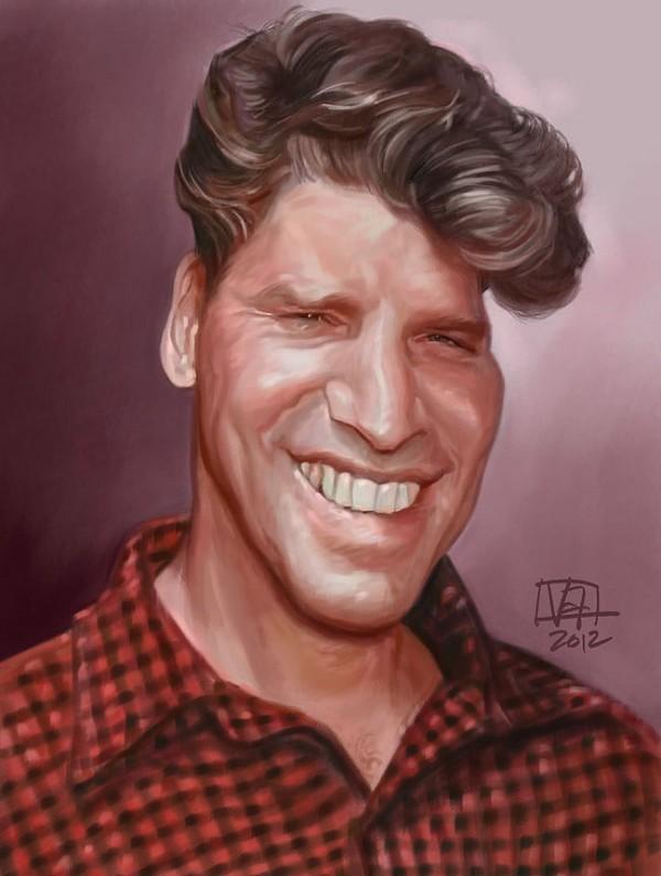 Caricatura de Burt Lancaster