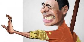 Caricatura de Chow Yun-Fat