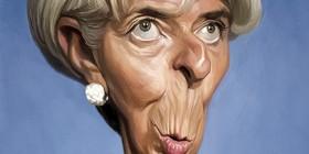 Caricatura de Christine Lagarde