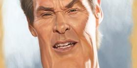 Caricatura de David Hasselhoff