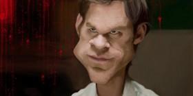 Caricatura de Dexter Morgan (Michael C. Hall)