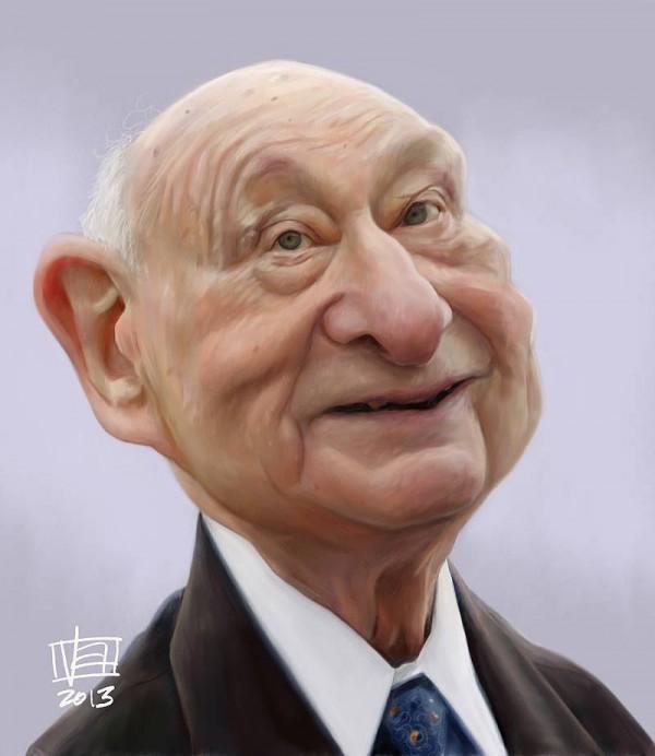 Caricatura de Ed Koch