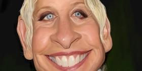 Caricatura de Ellen DeGeneres