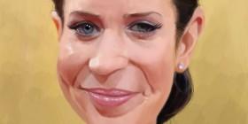 Caricatura de Emily Blunt