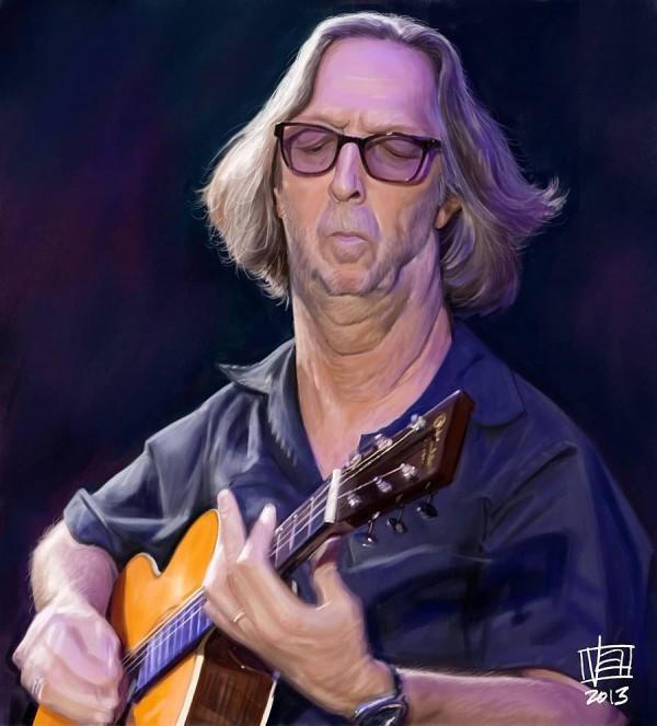Caricatura de Eric Clapton