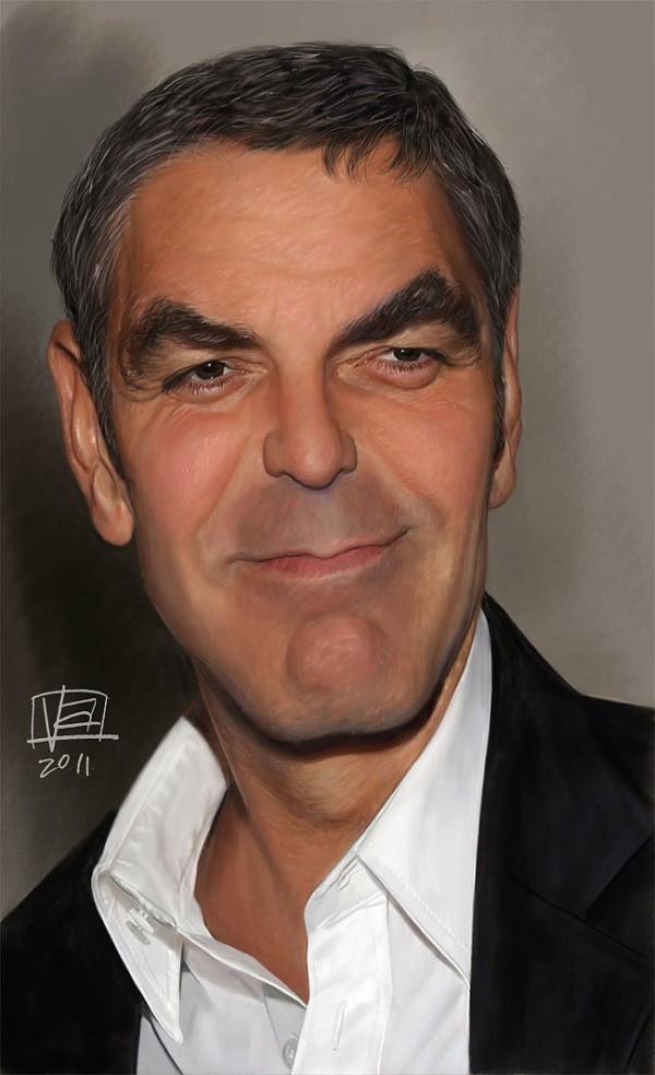 Caricatura de George Clooney