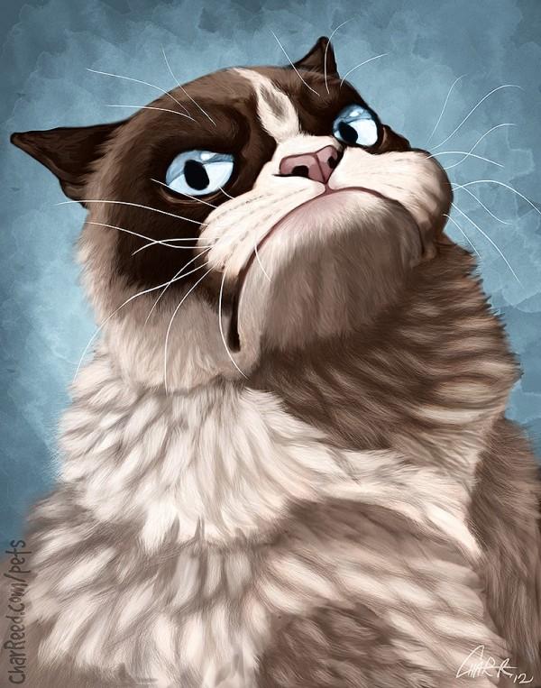 Caricatura de Grumpy Cat