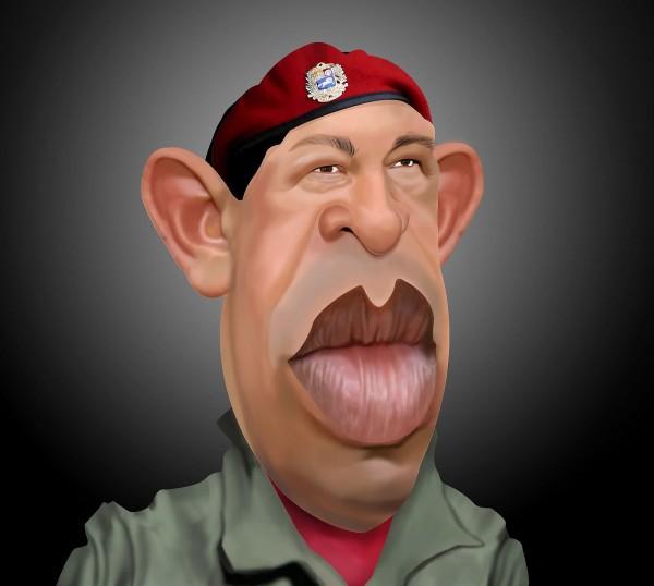 Caricatura de Hugo Chávez