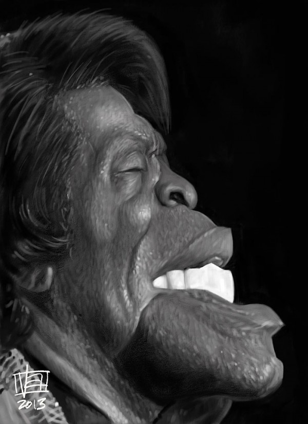 Caricatura de James Brown