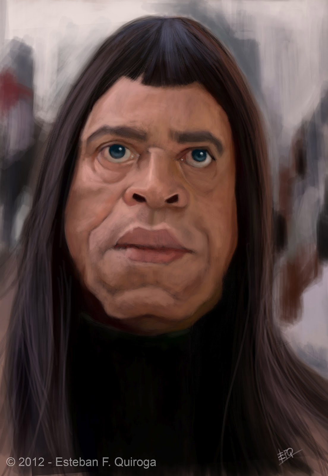 Caricatura de James Earl Jones en Conan el Barbaro