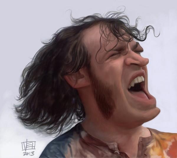 Caricatura de Joe Cocker