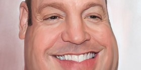 Caricatura de Kevin James